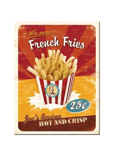 Nostalgic Art French Fries Magnet 6x8 cm Renkli